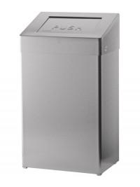 SanTRAL ABU 50 Abfallbox 50 l, mit selbstschließender Einwurfklappe, Edelstahl, pulverbeschichtet, weiß