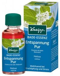 Kneipp® Bade-Essenz Entspannung Pur - Melisse, Wohltuend bei Erschöpfung und Stress, 20 ml - Flasche