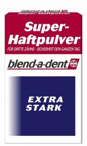 blend-a-dent Super-Haftpulver, schützt die Mundschleimhaut vor Druckstellen, 1 Packung = 50 g extra-stark