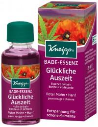Kneipp® Bade-Essenz Glückliche Auszeit - Roter Mohn und Hanf, Entspannung für schöne Momente, 20 ml - Flasche