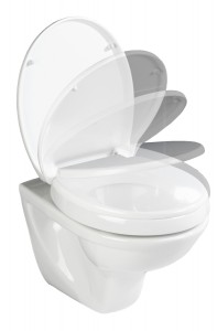 WENKO WC-Sitz Secura Comfort, mit Sitzflächenerhöhung, Für eine optimale Sitzposition, WC-Sitz, Farbe: weiß