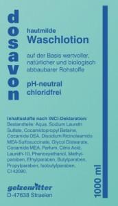 dosavon Waschlotion, ph-neutrale, chloridfreie Waschlotion, 10 l - Kanister