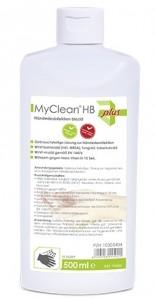 MyClean® HB Händedesinfektion biozid, Händedesinfektionsmittel auf Ethanol-Basis, 500 ml - Flasche
