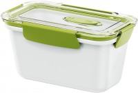 EMSA Bento Box - Lunchbox, rechteckig, Ideal für kleine Mahlzeiten außer Haus, Fassungsvermögen: 900 ml, Farbe: weiß / grün