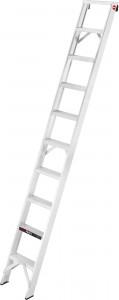 Hailo ProfiLine A 250 Profi-Anlegeleiter, Die extrem stabile Profi-Anlegeleiter, belastbar bis 250 kg, 10 tiefe rutschsichere profilierte Stufen