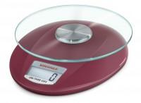SOEHNLE Digitale Küchenwaage Roma, Klassische Eleganz mit klaren Formen, Farbe: ruby red