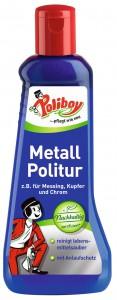 POLIBOY Metall Politur, Reinigung und Pflege für alles aus Messing, Kupfer und Chrom, 200 ml - Flasche