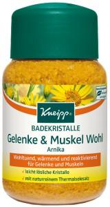 Kneipp® Badekristalle Gelenke & Muskel Wohl - Arnika, Wohltuend, wärmend und reaktivierend für Gelenke und Muskeln, 500 g - Dose