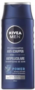 NIVEA® Hair Care MEN Pflegeshampoo Anti-Schuppen, Mit Bambus-Extrakt, befreit von Schuppen, 250 ml - Flasche