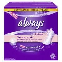 Always Slip-Einlagen Normal Freshness, 100% Schutz mit ActiPearls™, 1 Packung = 50 Stück