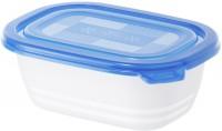 Rotho FREEZE Set Gefrierdosen, 4-teilig, 500 ml , Frischhaltedosen aus Kunststoff, Maße: 155 x 110 x 55 mm, Farbe: porcelain / pine grün