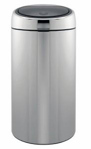 Brabantia Twin Bin, mit 2 Kunststoffeinsätzen 20 l, brilliant steel