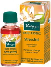 Kneipp® Bade-Essenz Stressfrei - Mandarine & Orange, Wohltuend und entspannend für Körper und Geist - hilft abzuschalten, 20 ml - Flasche