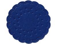 DUNI Tassen- und Glasuntersetzer aus Zellstoff, 8-lagig, Ø 7,5 cm, rund, dunkelblau, 1 Karton = 12 x 250 Stück = 3000 Untersetzer