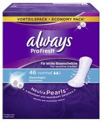 Always Slipeinlage ProFresh Normal, Besonders gut bei leichter Blasenschwäche, 1 Packung = 44 Stück