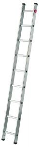 Hailo ProfiStep® uno Aluminium Anlegeleiter, Die leichte und sichere Alu-Anlegeleiter für Haus und Garten, 9 Sprossen, Arbeitshöhe: max. 355 cm