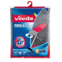 Vileda Viva Express Park & Go Bügeltisch-Bezug, Mit Dekor und metallisierter Kurzzeit-Parkzone, 1 Packung = 1 Stück