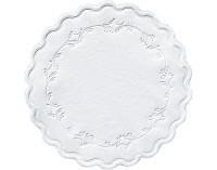 DUNI Tassen- und Glasuntersetzer aus Zellstoff, 8-lagig, Ø 9 cm, rund, weiß, 1 Karton = 20 x 500 Stück = 10000 Untersetzer