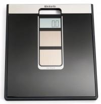 Brabantia Solarbetriebene Digitale Personenwaage, Extra große Kapazität, max. 160 kg, Große Wiegefläche, Farbe: schwarz