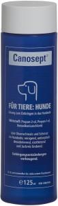 Canosept Ohrreiniger für Hunde, Löst Ohrenschmalz und Schmutz im Ohr, 125 ml - Flasche