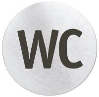 """Blomus Türschild SIGNO, bedruckt, Aus hochwertigem Edelstahl, """"WC"""