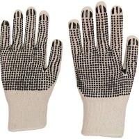 NITRAS® Strickhandschuhe, Baumwoll/Polyester rohweiss, mit PVC-Noppen, 1 Karton = 240 Paar, Größe: 9