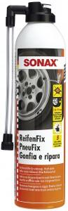 SONAX ReifenFix - Reifenpannen-Set, Macht platte Reifen wieder fahrbereit, 400 ml - Sprühdose mit Adapter