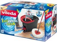 Vileda GmbH Vileda Easy Wring & Clean Wischmop, Microfaser Mop, Eimer mit PowerSchleuder, 1 Wischmop Set 133649
