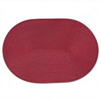 Zeller Platzset oval, 46 x 30 cm, Deko und Schutz vor Beschmutzung und Beschädigung, Farbe: rot