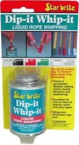 Star brite Tauendversiegler Dip-It-Whip-it, Zur schnellen Versiegelung von Seilenden, schwarz, 118 ml - Dose