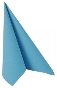 """PAPSTAR Vertriebsgesellschaft mbH & Co. KG Papstar Servietten, 1/4-Falz, 33 cm x 33 cm, """"ROYAL Collection"""", 1 Packung = 50 Stück, türkis 82237"""