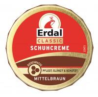 Erdal-Rex GmbH Erdal Schuhcreme Classic, mit echtem Bienenwachs, 75 ml - Dose, mittelbraun 100110
