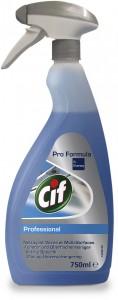Cif Professional Glas- und Flächenreiniger, verleiht allen Oberflächen aus Glas strahlenden Glanz, 750 ml - Flasche