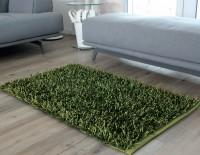 """Gözze Langfloor Teppich Mettalic-Optik """"SHAGGY"""", 70 x 120 cm, 65% Polyester, 35% Baumwolle, Latex-Unterseitenbeschichtung, Farbe: petrol"""
