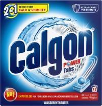 Calgon 2 in 1 Waschmaschinen-Wasserenthärter-Tabs, Für mittelhartes bis hartes Wasser , 1 Packung = 75 Tabs