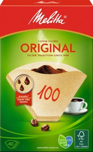 Melitta® Filtertüten 100/40, naturbraun, 1 Packung = 40 Stück