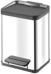 Hailo Tret-Abfallsammler öko uno 19, Fassungsvermögen: 19 Liter, Edelstahl, schwarzer Kunststoff-Inneneimer
