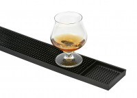 Bar- und Serviermatte, schmal, Vollgummierte Matte mit Noppen , Maße: 8 x 60 cm