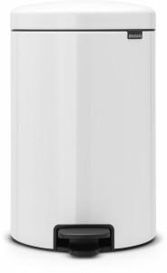 Brabantia NEWICON Treteimer, 20 l, Mit herausnehmbarem Inneneinsatz, White
