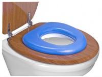 reer WC - Kindersitz soft, Toilettensitz-Verkleinerer passt auf jede Toilette, Farbe: blau