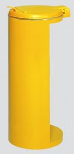 VAR GmbH VAR Abfallsammler Kompakt-Junior, für 120 Liter Säcke, für den Außenbereich, Farbe: gelb
