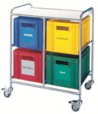 Novocal Kunststoffkästen, 60 x 40 x 27 cm, für Novocal Wertstoffsammler WWK-Serie, grün