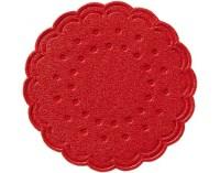 DUNI Tassen- und Glasuntersetzer aus Zellstoff, 8-lagig, Ø 7,5 cm, rund, rot, 1 Karton = 12 x 250 Stück = 3000 Untersetzer