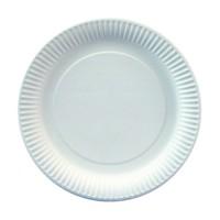 Papstar Pure Teller rund weiß, Durchmesser: 23 cm, 1 Packung = 25 Stück