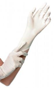 Hygostar® Einmalhandschuhe Nitril SAFE, ungepudert, Farbe: weiß, Länge: ca. 24 cm, 1 Packung = 100 Stück, Größe: XL