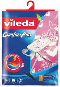Vileda Viva Express Comfort Plus Bügeltisch-Bezug, Einzigartiges 3-Lagen Konzept, Farbig sortiert - Farbe nicht frei wählbar