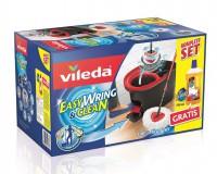 Vileda GmbH Vileda EasyWring & Clean Wischmop Komplett Set + GRATIS Reiniger, 750 ml - Flasche Pronto Holzreiniger als Gratis-Zugabe, Wischmop-Set + 750 ml Holzreiniger 150681