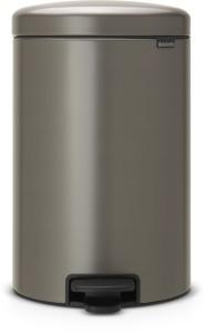 Brabantia NEWICON Treteimer, 20 l, Mit herausnehmbarem Inneneinsatz, Platinum