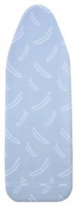 WENKO Bügeltischbezug Air Comfort, Extra schnelles und leichtes Bügeln mit Gegenbügeleffekt, Größe L, Maße: 125 x 45 cm, Farbe: blau-weiß