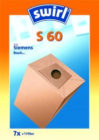 Swirl S 60, 1 Packung = 7 Stück, für Siemens/Bosch Typ S 60
